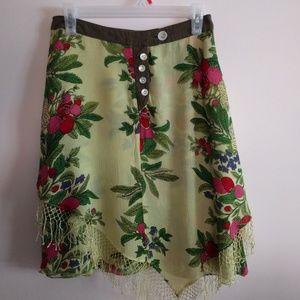 Women's Yellow Skirt